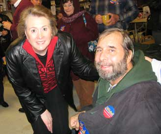 Janet Huckabee and me